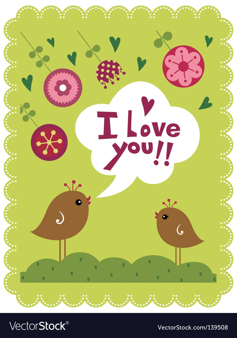 Birds and flower vector | Price: 1 Credit (USD $1)