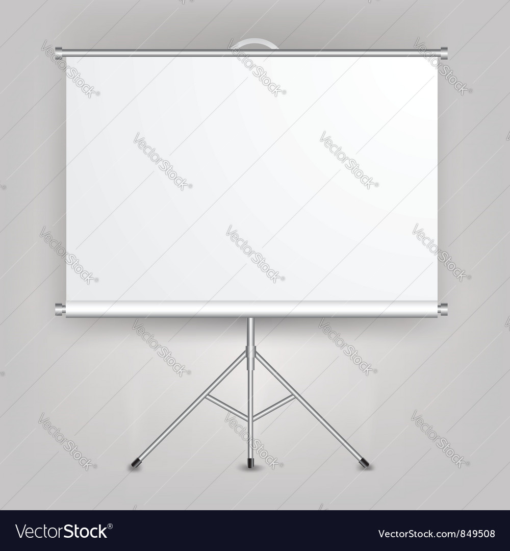 Blank presentation screen vector | Price: 1 Credit (USD $1)