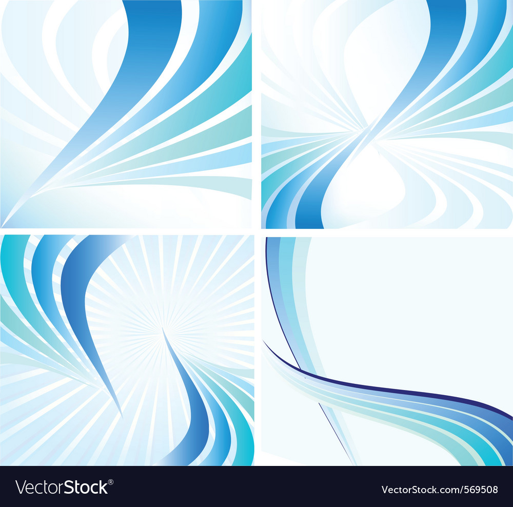 Blue wave background vector | Price: 1 Credit (USD $1)