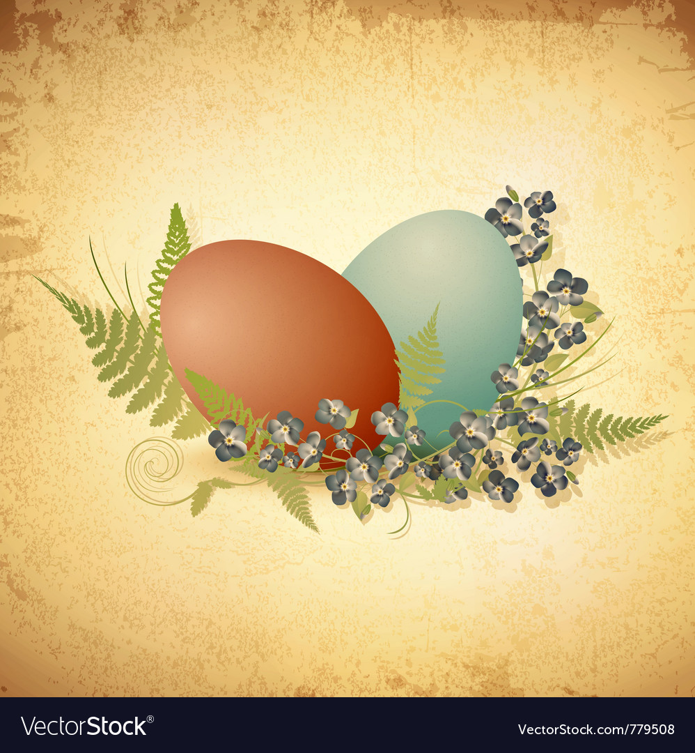 Easter vintage background vector | Price: 3 Credit (USD $3)