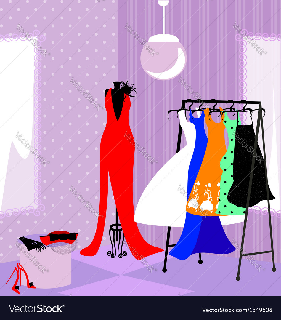 Fitting room vector | Price: 1 Credit (USD $1)