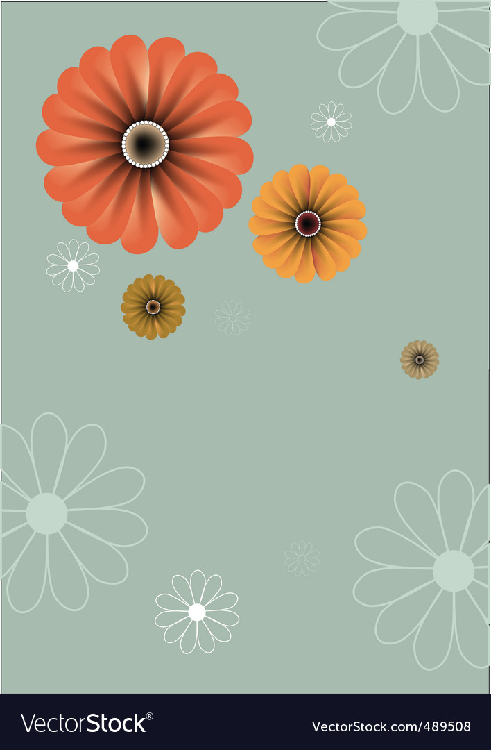 Floral abstract retro background vector | Price: 1 Credit (USD $1)