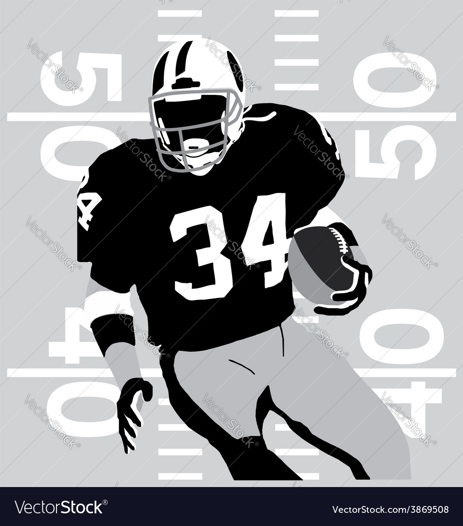 Football player rules vector | Price: 1 Credit (USD $1)