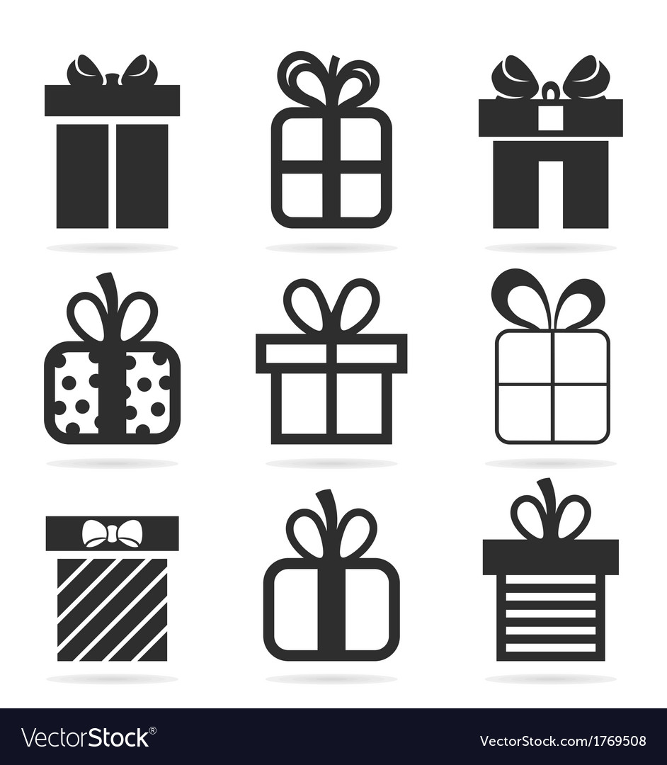 Gift an icon vector | Price: 1 Credit (USD $1)
