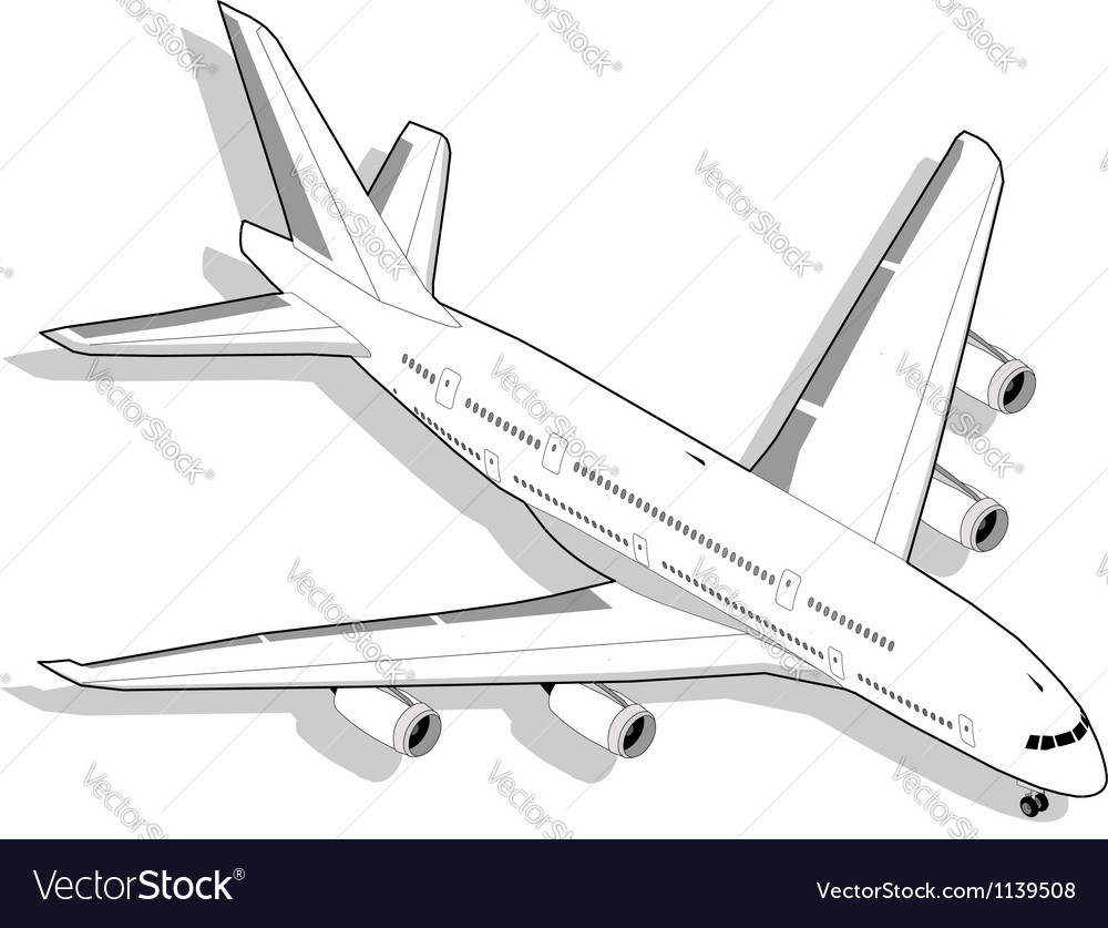 Isometric white airplane vector | Price: 3 Credit (USD $3)