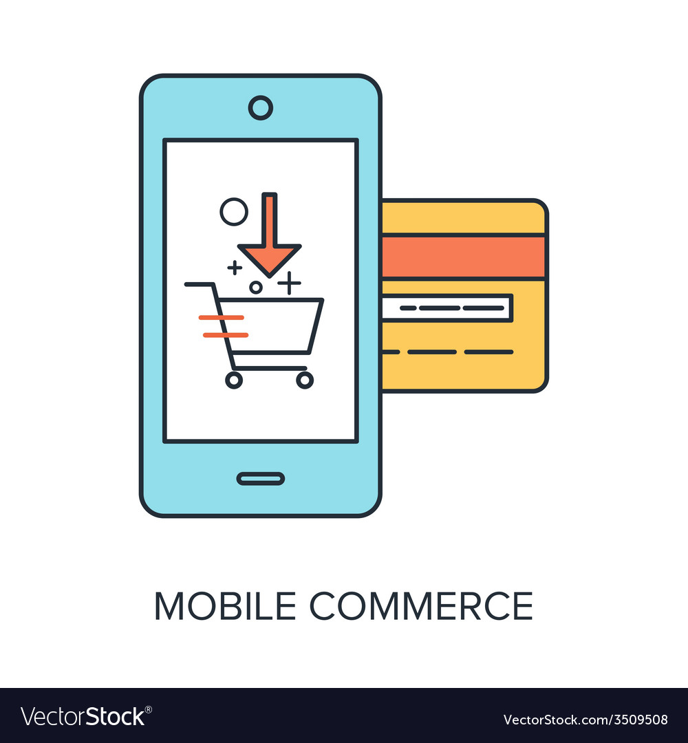 Mobile commerce vector | Price: 1 Credit (USD $1)