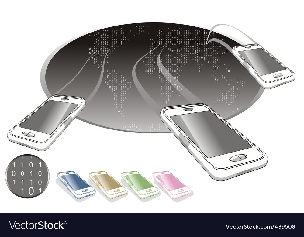 Mobile world vector | Price: 3 Credit (USD $3)