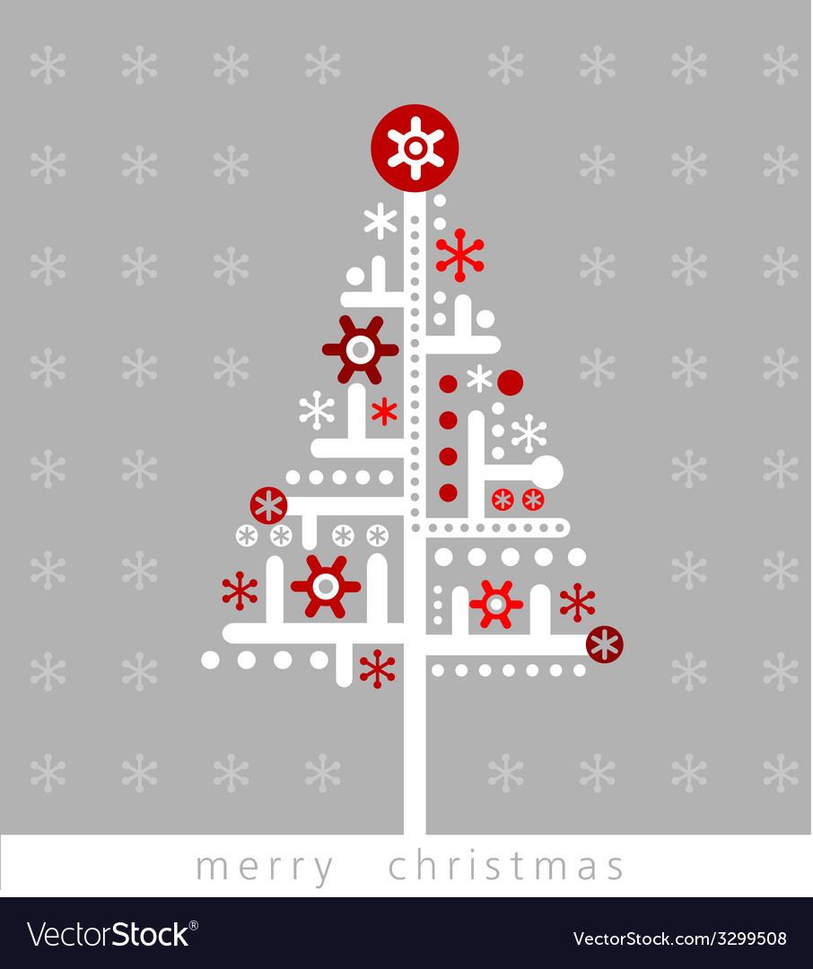 Modern christmas greeting card vector | Price: 1 Credit (USD $1)