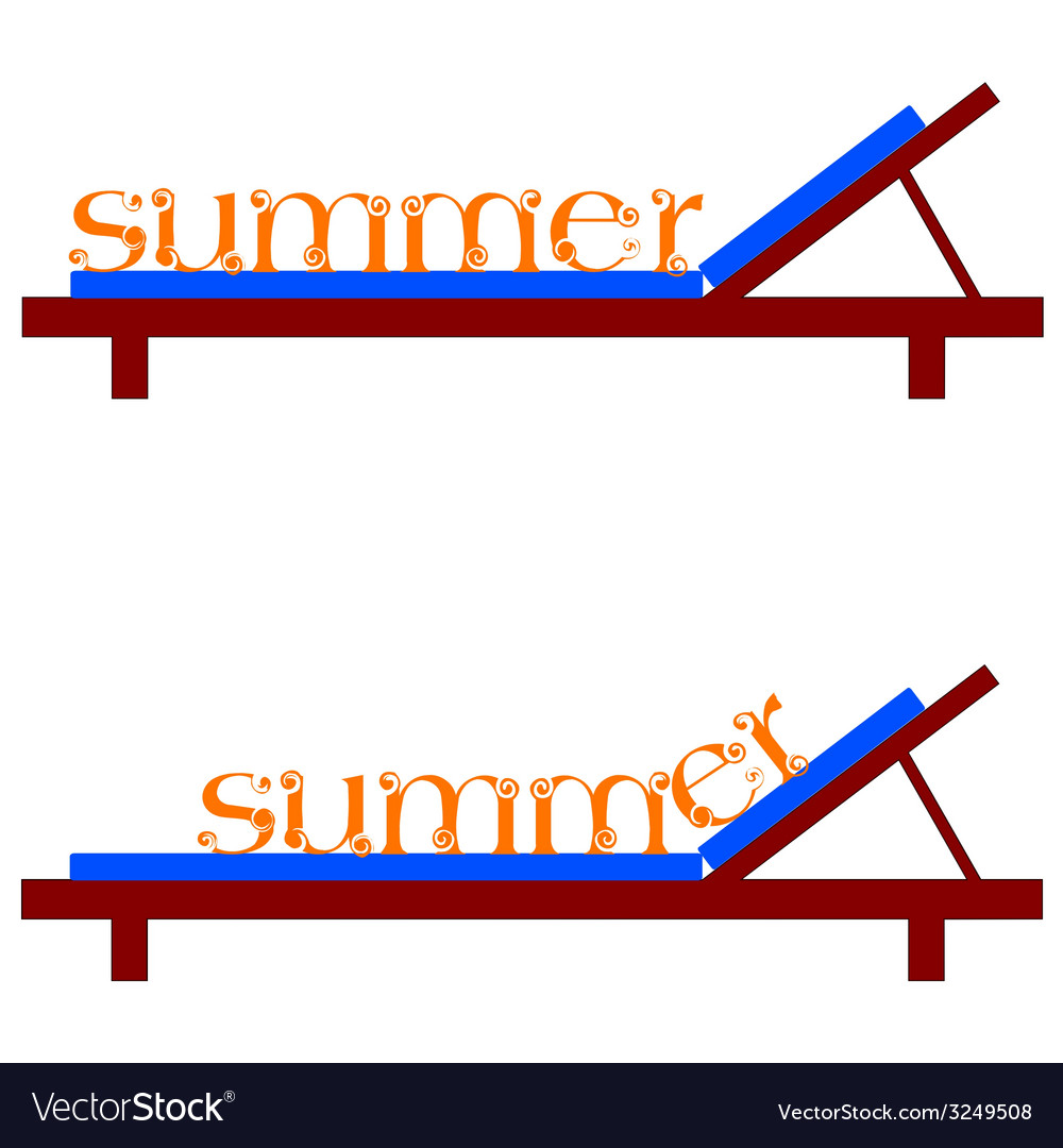 Summer chairs for a beach vector | Price: 1 Credit (USD $1)
