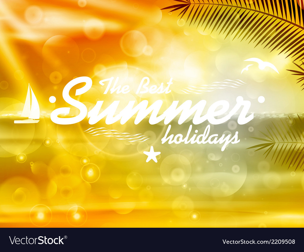Summer poster design with typography vector | Price: 1 Credit (USD $1)