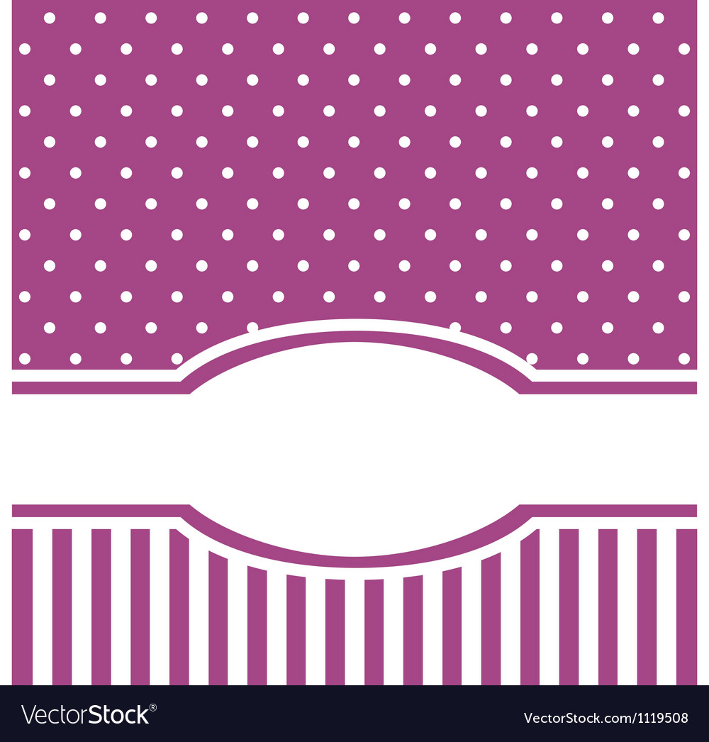 Violet card or invitation with white polka dots vector   Price: 1 Credit (USD $1)