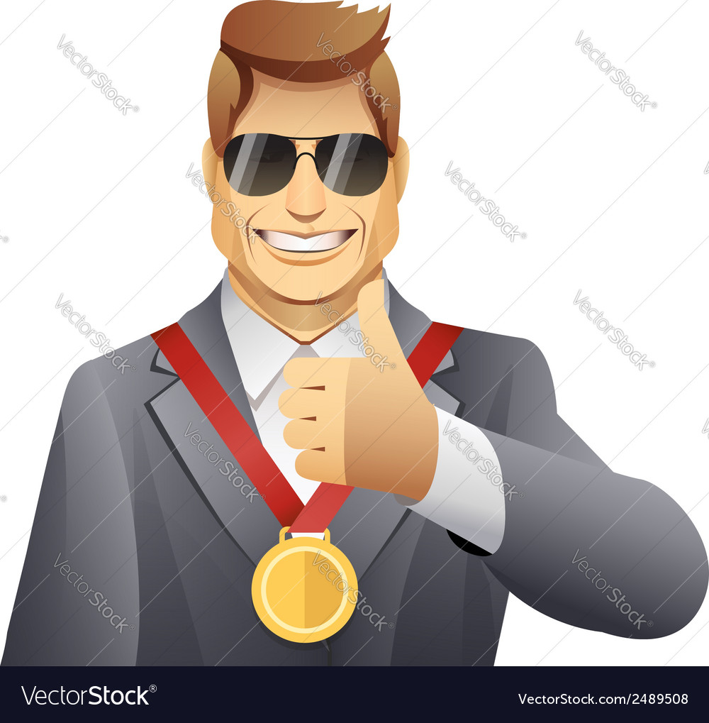 Winner with medal vector | Price: 1 Credit (USD $1)