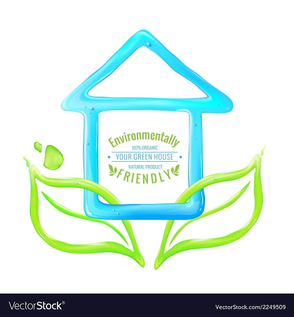 Blue house of jelly vector | Price: 1 Credit (USD $1)