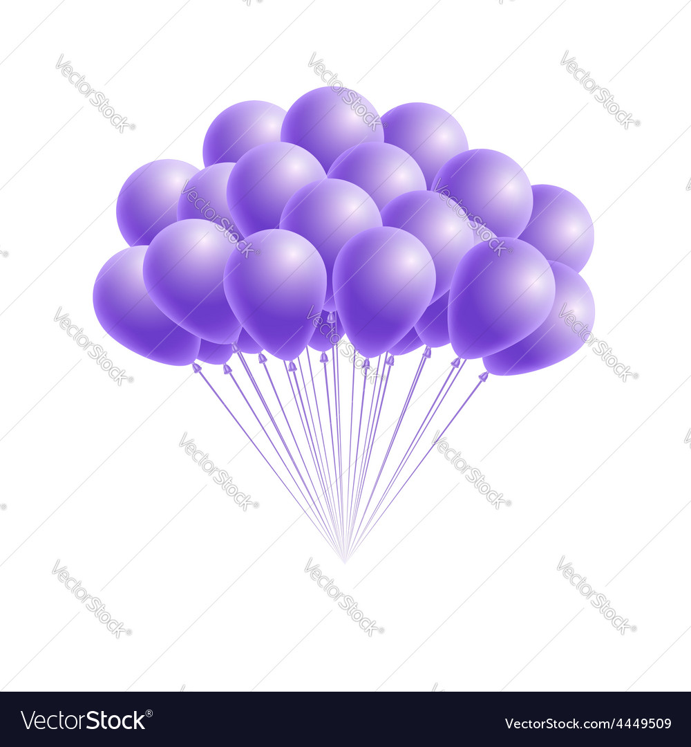 Bunch birthday or party pink balloons vector   Price: 1 Credit (USD $1)