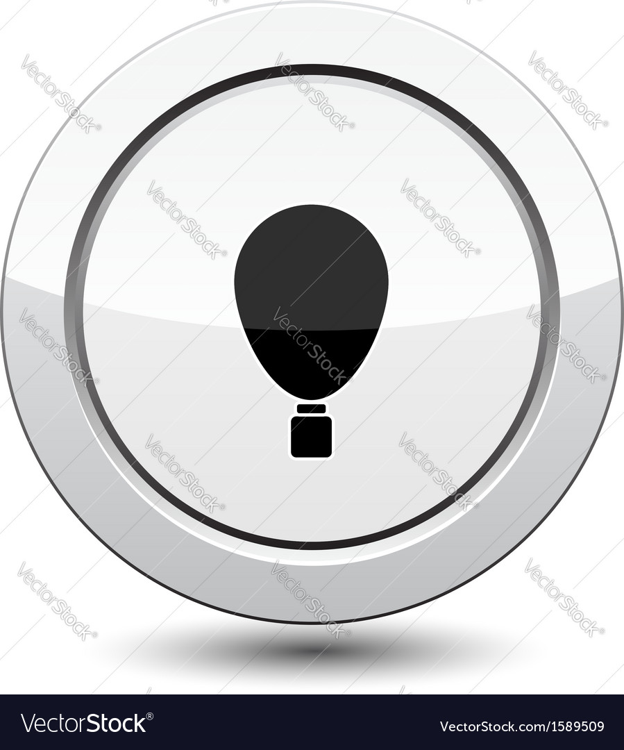 Button with balloon vector | Price: 1 Credit (USD $1)