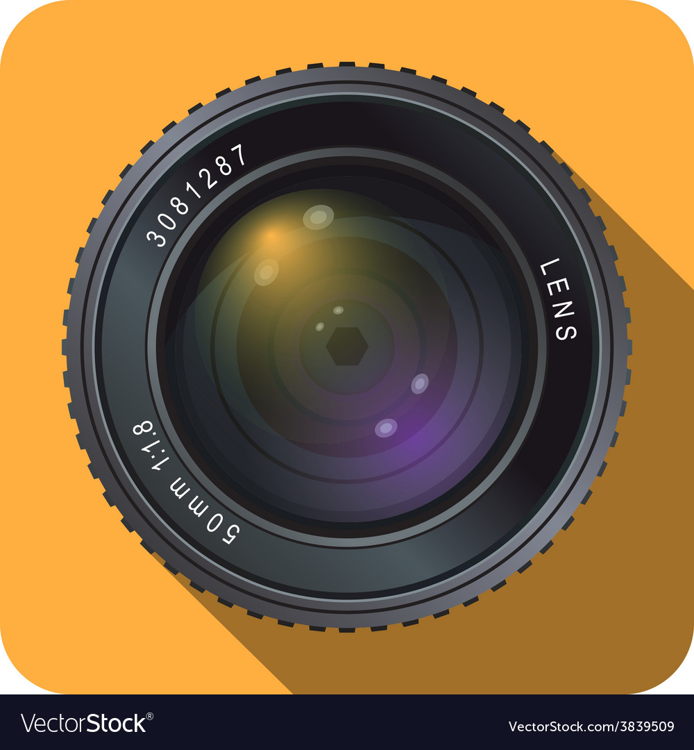 Camera lens icon 50mm vector | Price: 3 Credit (USD $3)