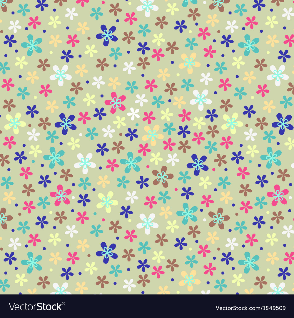 Flower seamless color pattern vector | Price: 1 Credit (USD $1)