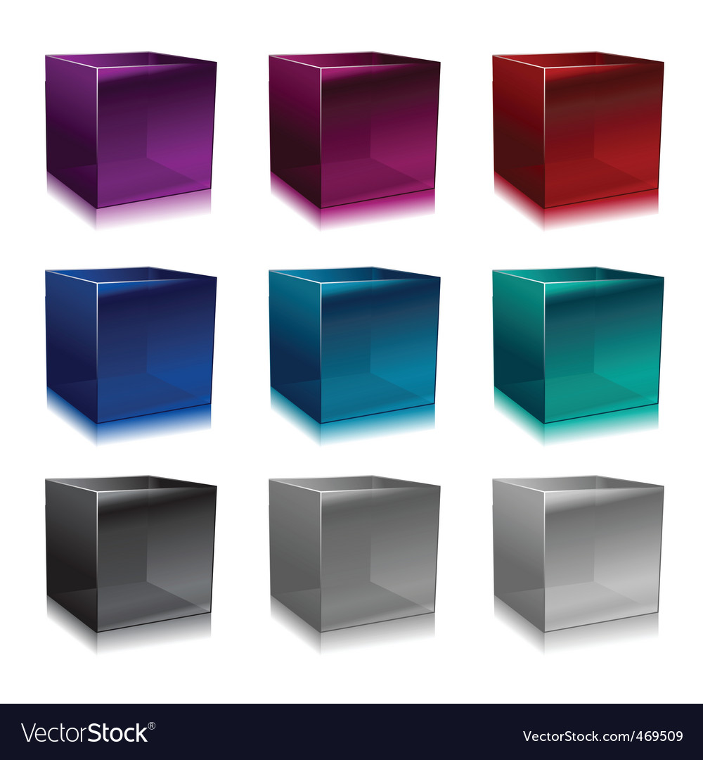 Glass cubes vector | Price: 1 Credit (USD $1)