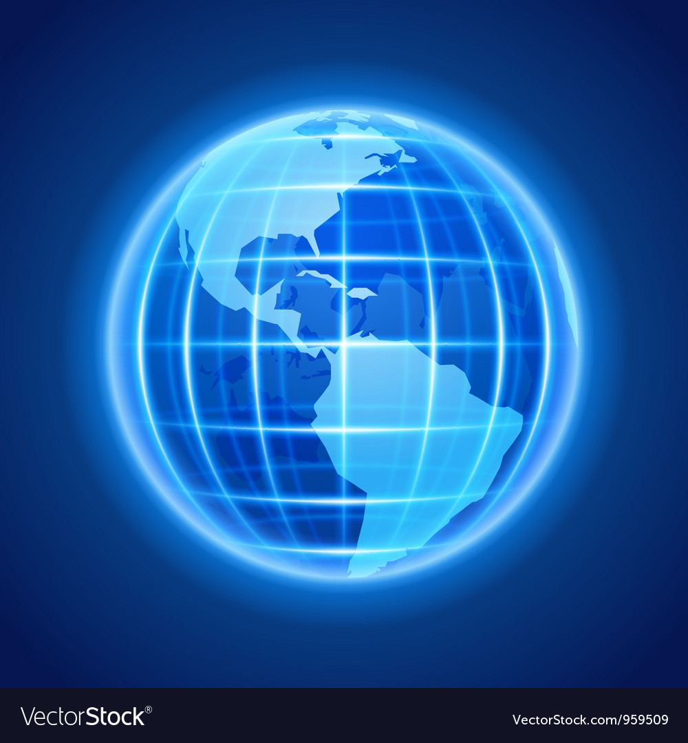 Globe earth night light icon design element vector | Price: 1 Credit (USD $1)