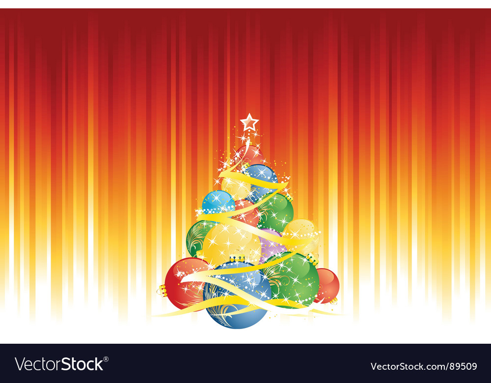 Magic christmas tree vector | Price: 1 Credit (USD $1)