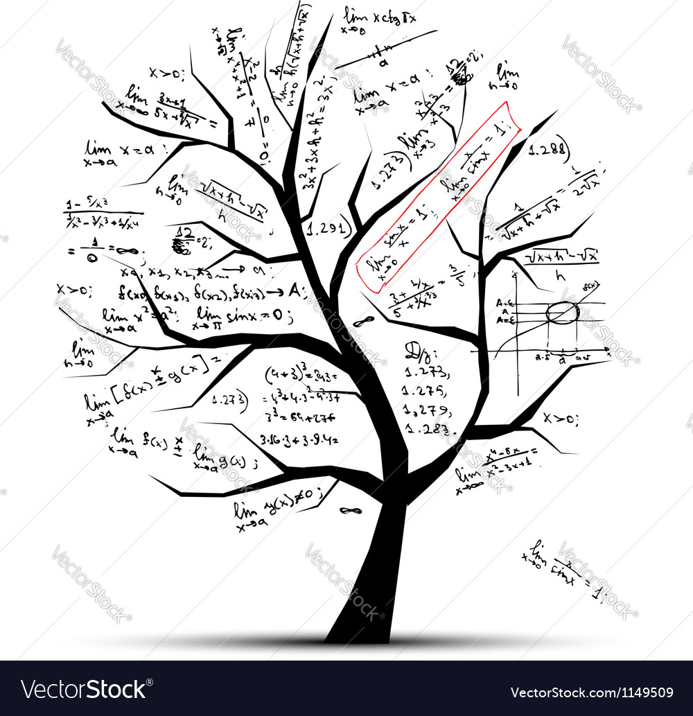 Math tree for your design vector | Price: 1 Credit (USD $1)