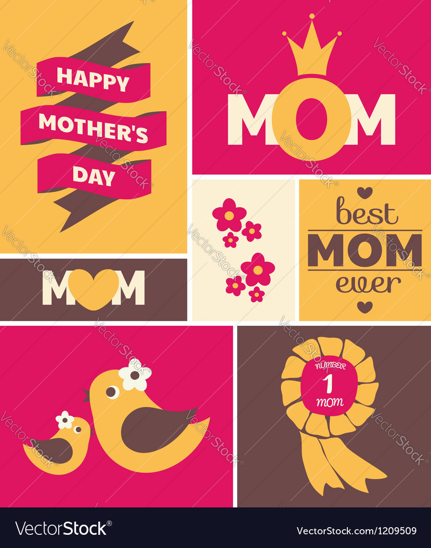 Mothers day greeting card vector   Price: 3 Credit (USD $3)