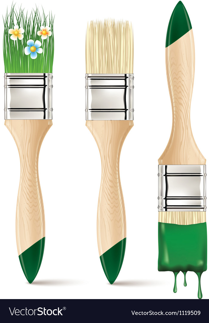 Paintbrushes vector | Price: 1 Credit (USD $1)