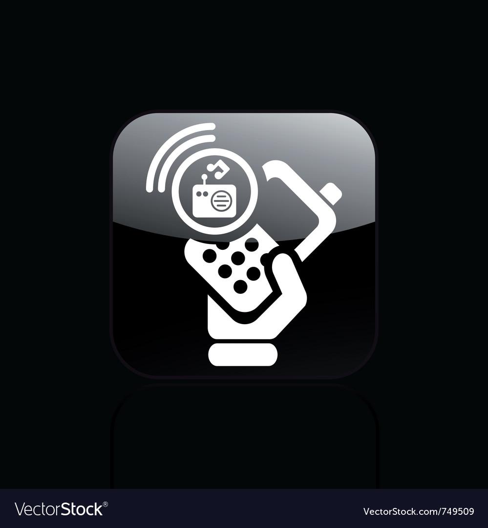 Phone radio icon vector   Price: 1 Credit (USD $1)
