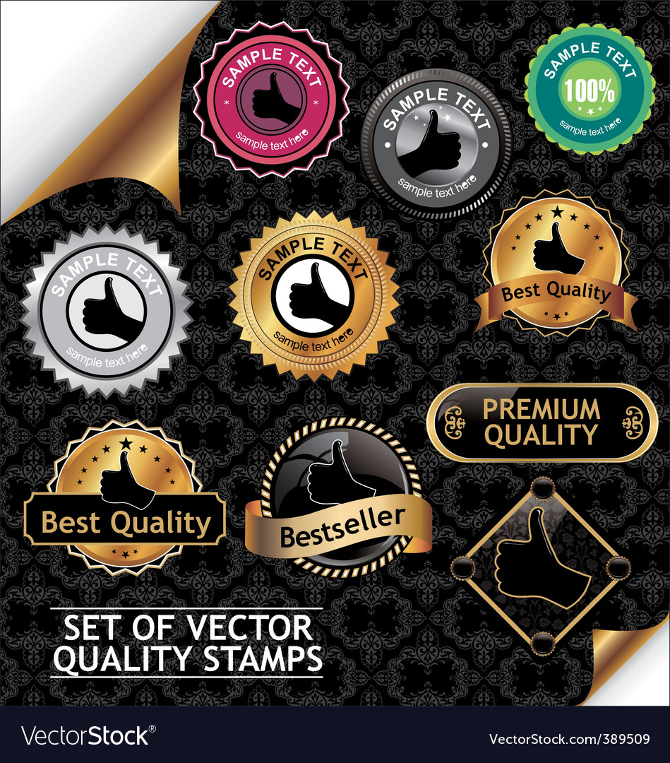 Set of quality stamp vector | Price: 1 Credit (USD $1)
