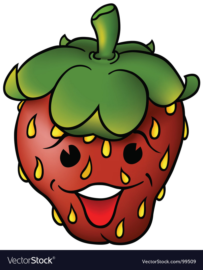 Smiling strawberry vector | Price: 1 Credit (USD $1)