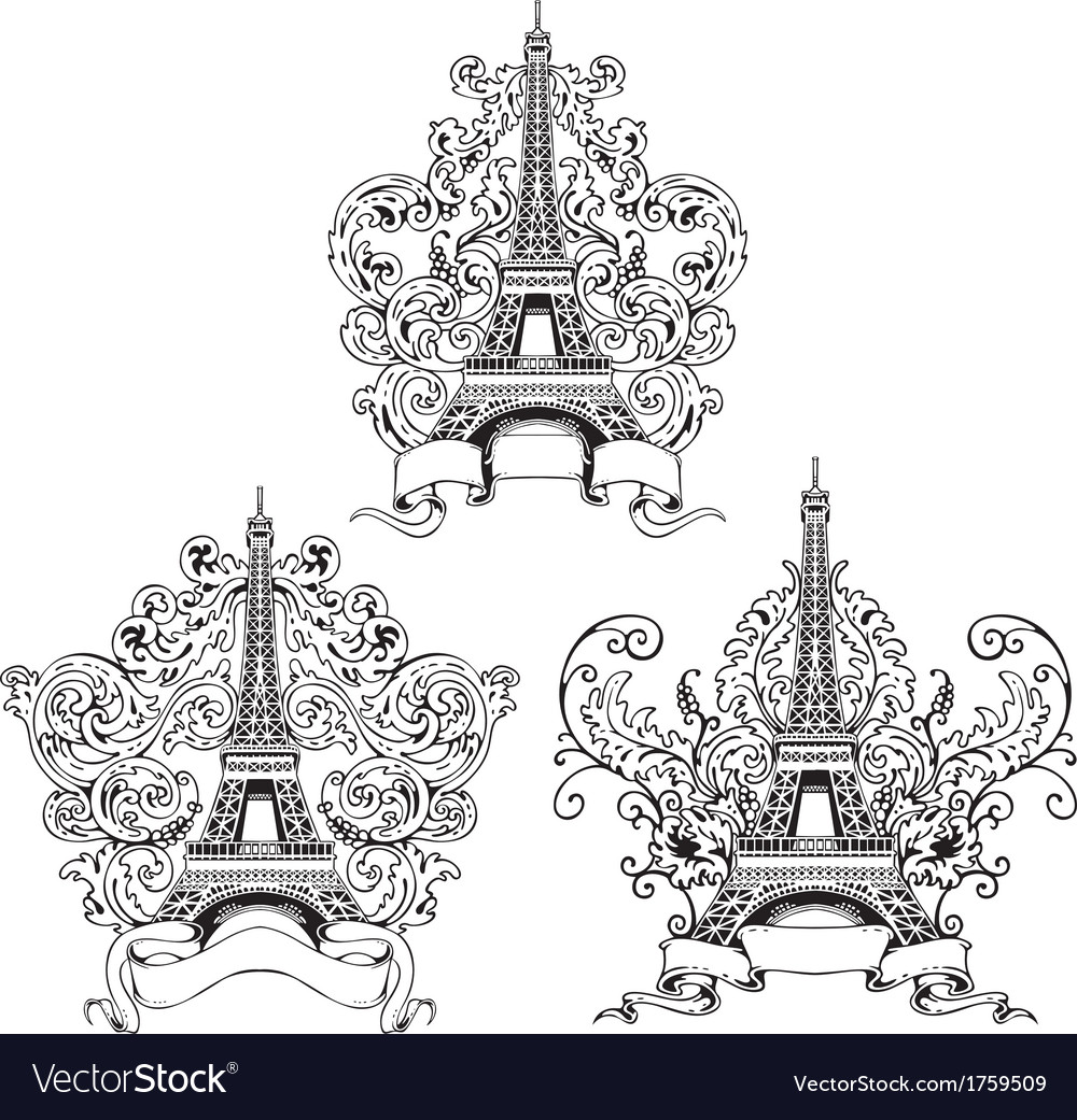 Stylized eiffel tower vector | Price: 1 Credit (USD $1)