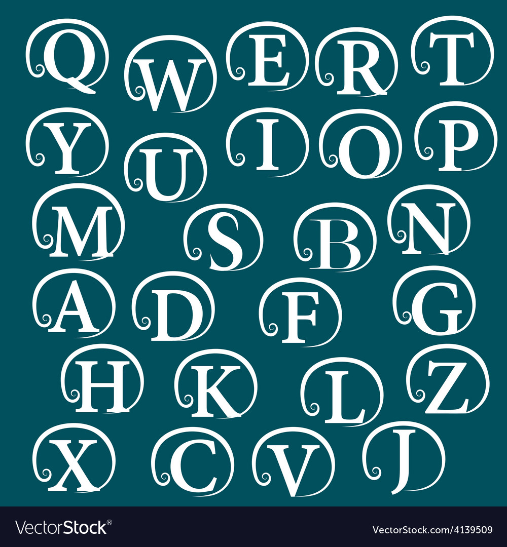 Vintage alphabet design element vector | Price: 1 Credit (USD $1)