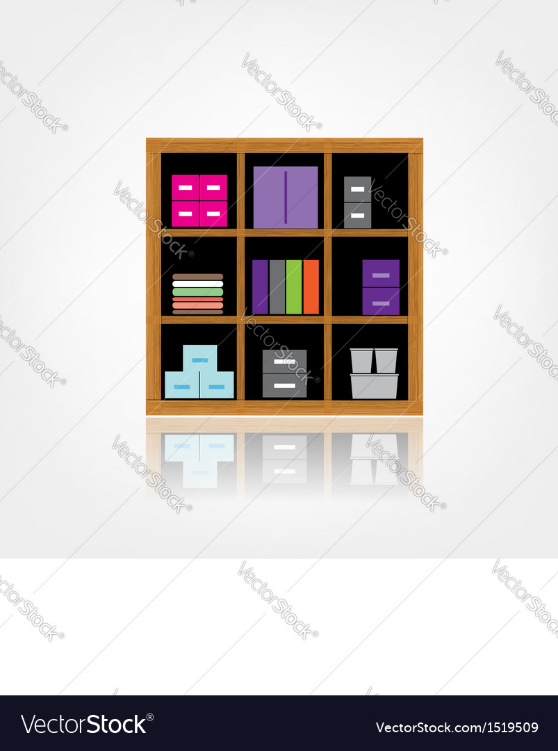 Wooden cabinet vector | Price: 1 Credit (USD $1)