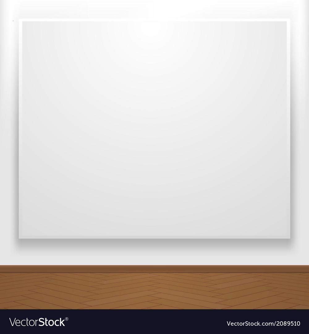 Blank canvas on display vector | Price: 1 Credit (USD $1)