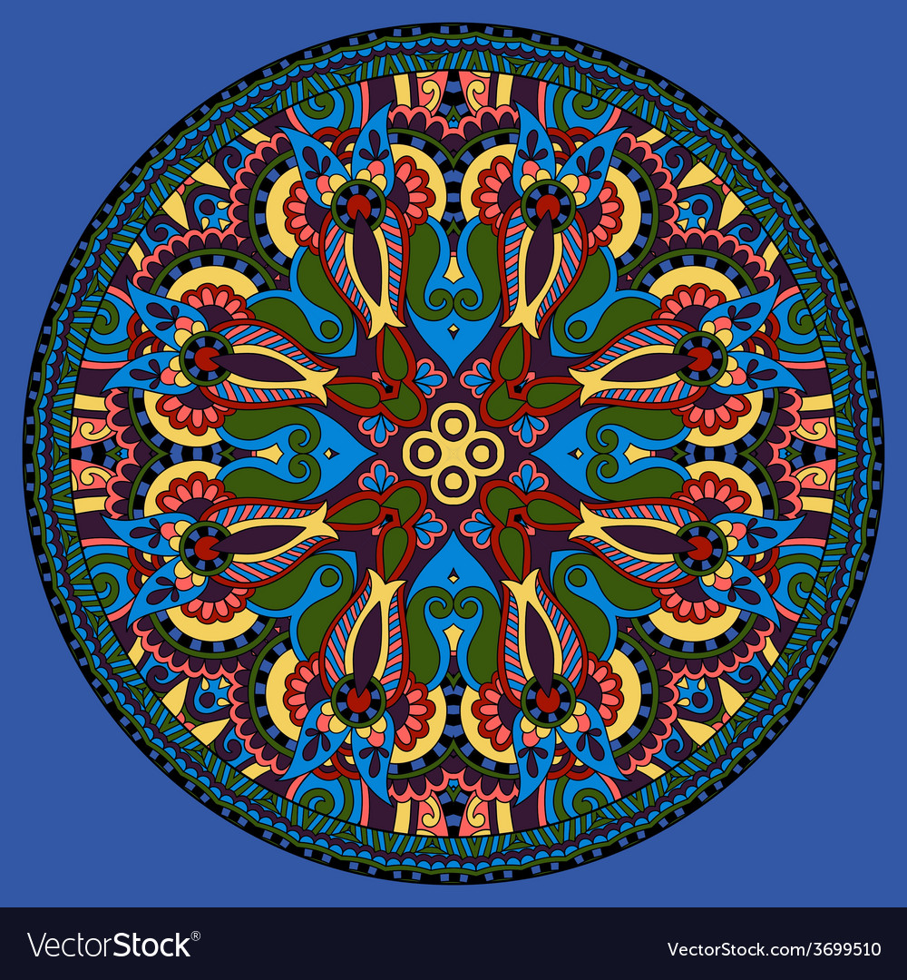 Decorative design of circle dish template vector | Price: 1 Credit (USD $1)
