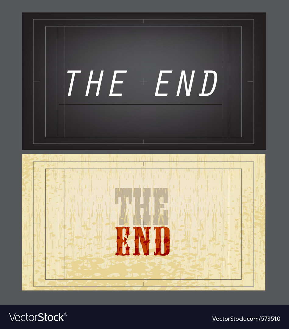 End vector | Price: 1 Credit (USD $1)