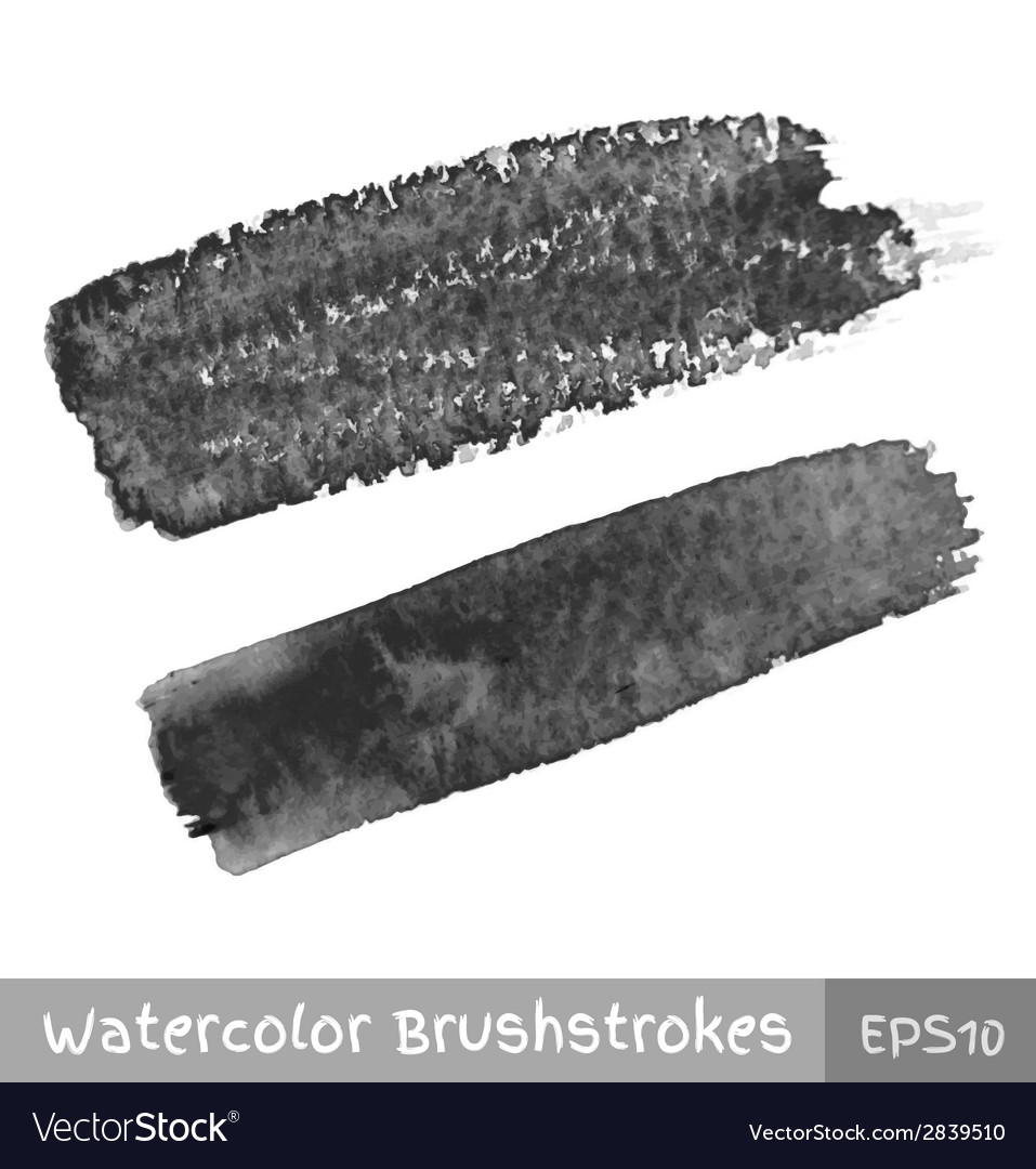 Gray watercolor brush strokes vector | Price: 1 Credit (USD $1)