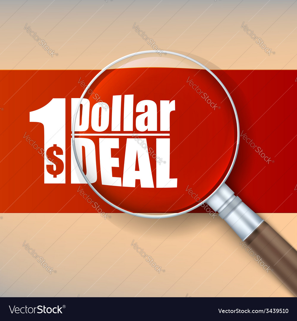 Magnifier selling banner vector | Price: 1 Credit (USD $1)