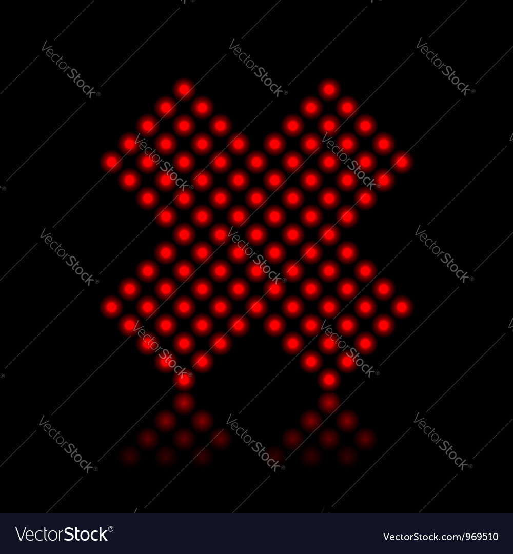 Red neon cancel cross on black vector | Price:  Credit (USD $)