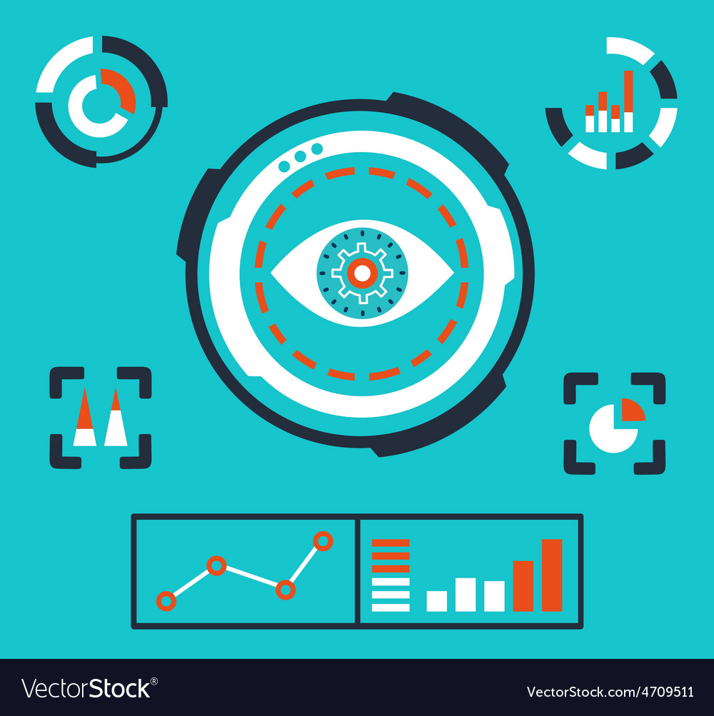 Analytics information on the dashboard an vector | Price: 1 Credit (USD $1)