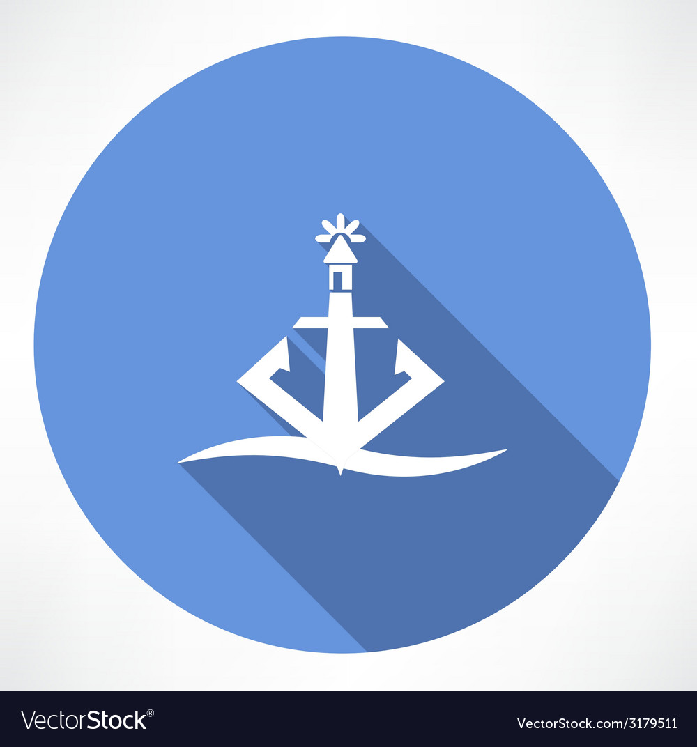 Anchor lighthouse icon vector | Price: 1 Credit (USD $1)