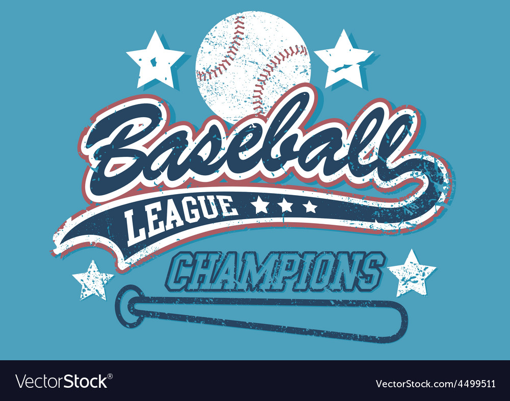 Baseball league champions vector | Price: 1 Credit (USD $1)
