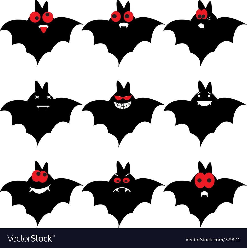 Bat emoticons vector | Price: 1 Credit (USD $1)