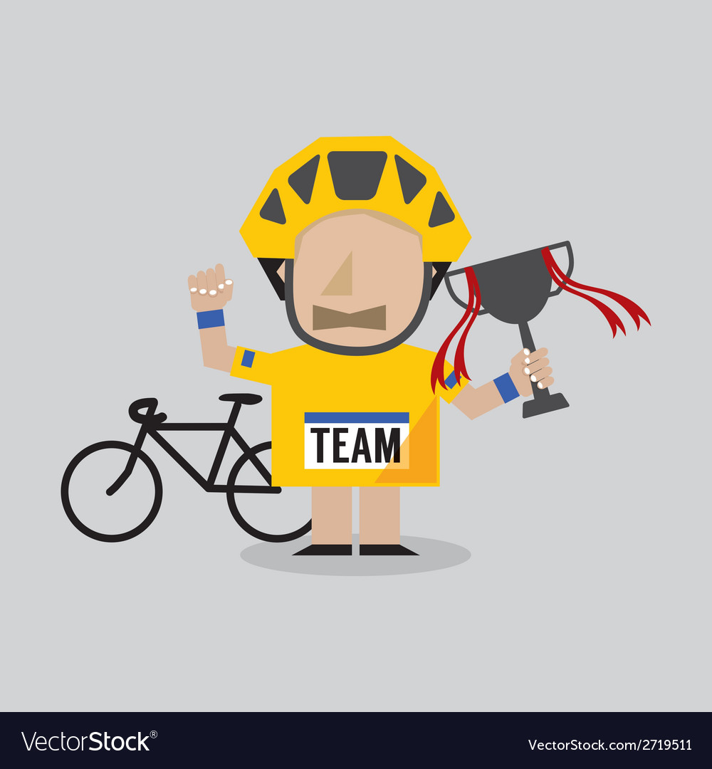 Champion cyclist athlete vector | Price: 1 Credit (USD $1)