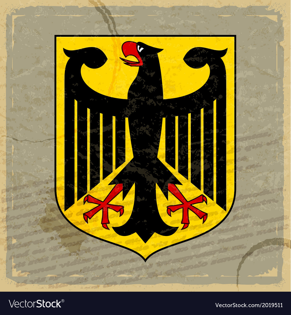 Coat of arms of germany on the old postage card vector | Price: 1 Credit (USD $1)