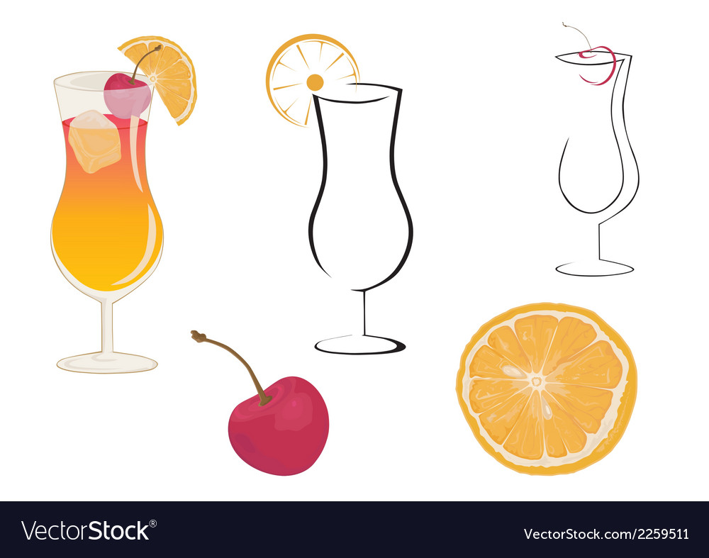 Cocktail sex on the beach vector | Price: 1 Credit (USD $1)