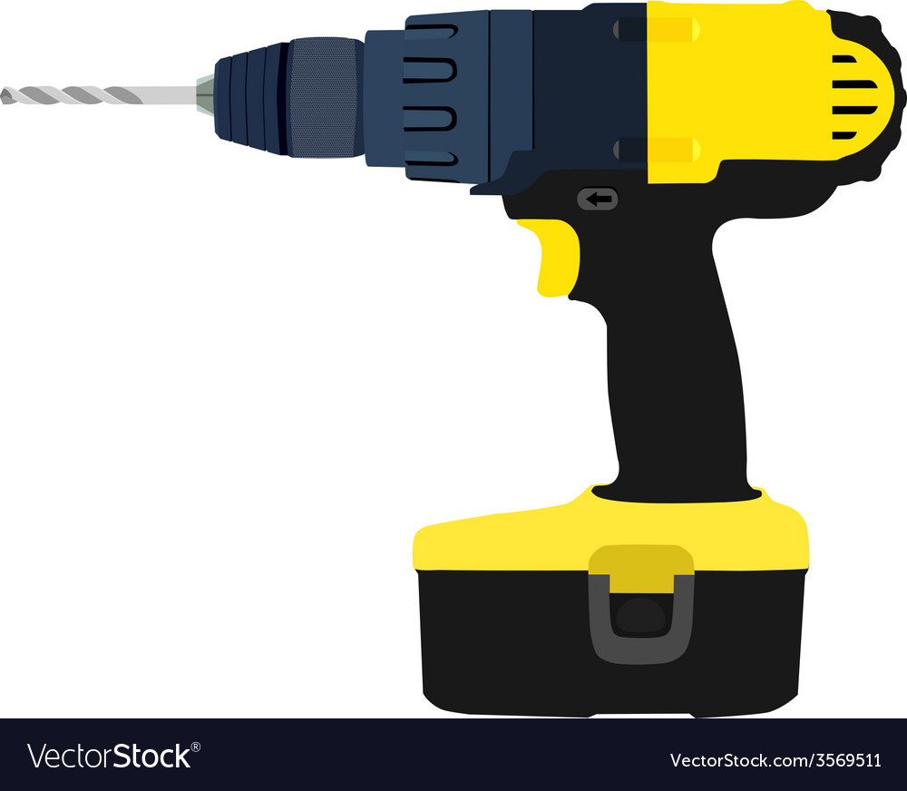 Drill driver vector | Price: 1 Credit (USD $1)
