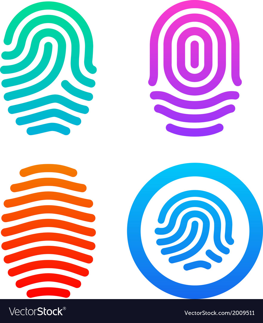 Fingerprint set vector | Price: 1 Credit (USD $1)