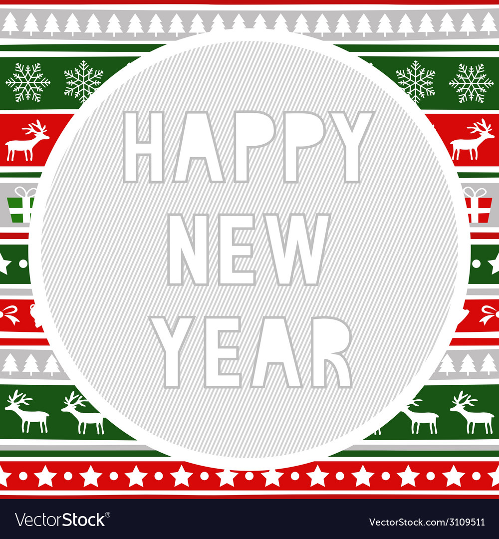 Happy new year greeting card8 vector   Price: 1 Credit (USD $1)