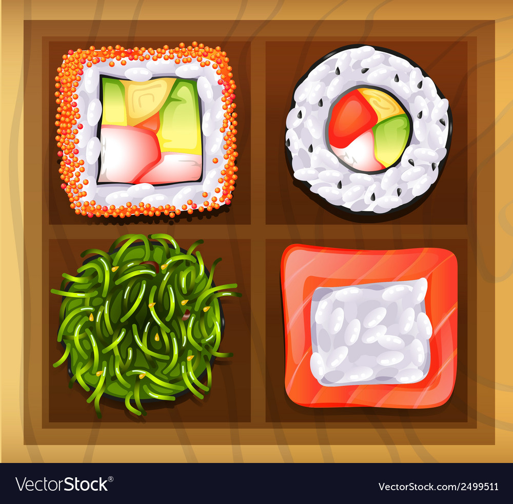 Japanese rice meals vector | Price: 1 Credit (USD $1)